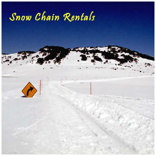 Snow chains for hire in Jindabyne