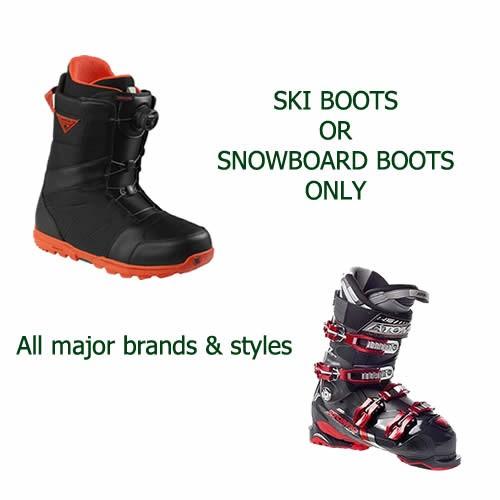 Ski or Snowboard Boots Rental