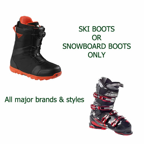 Ski or Snowboard Boots Rental