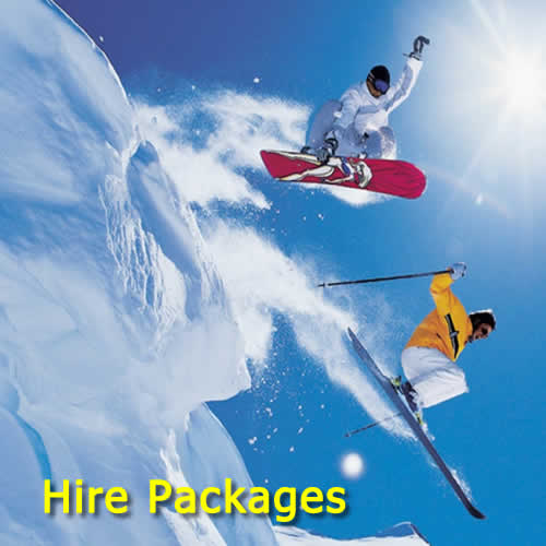 Discounted Skis Snowboards & Clothing Hire Packages