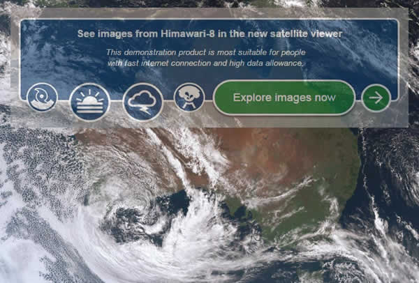 Himawari Weather System Satellite Australia