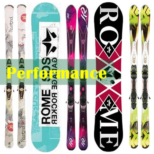 Performance Skis & Reverse Camber Snowboards