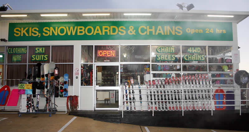 Skis, Snowboards & Chain Hire - 24 hours