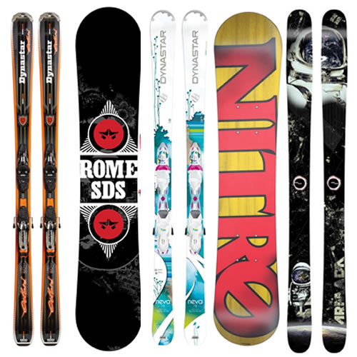 Types of skis and snowboards to hire in Jindabyne Snowy Mountains