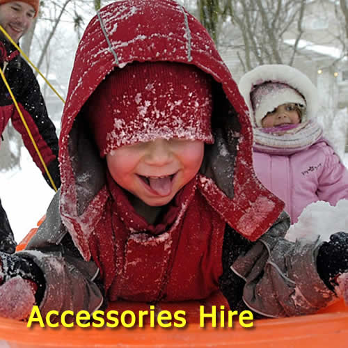 toboggans and snow accessories hire