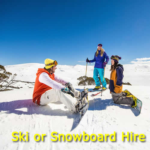 Skis, boots & Poles or Snowboard & Boots Hire Snowy Mountains