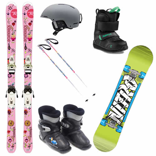 Kids Ski and Snowboard Hire