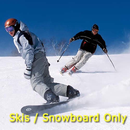 Skis or Snowboard Only Hire