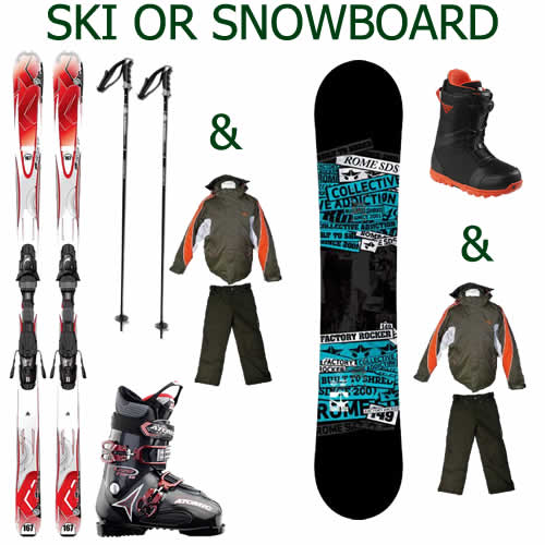 Ski or Snowboarding Packages