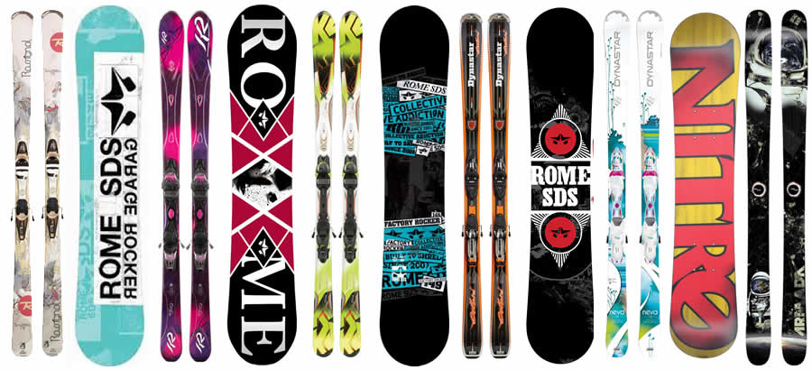 Ski Snowboard Types – BP Ski Hire