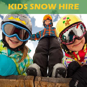 Everything for the kids including snow equipment and clothing hire + free helmets