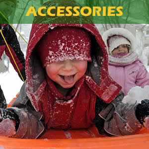 Toboggans, sleds, helmets, goggles and much more