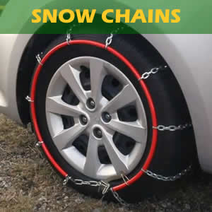 Rent easy fit ladder or diamond snow chains, and get them tested on your car by an experienced technician