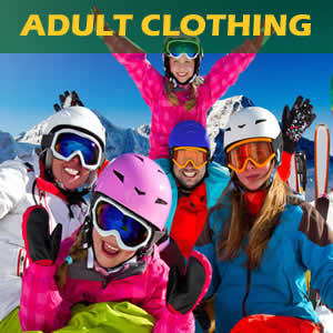 Great range of comfortable and warm snow clothing for hire