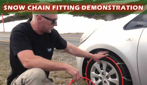 Learn how to easily fir snow chains