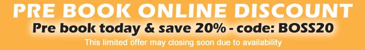 Save 20% - Pre Book Online